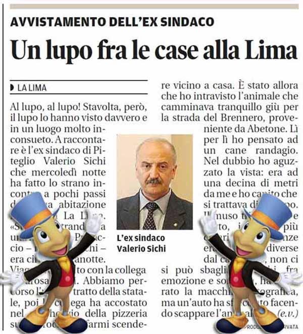 VALERIO SICHI, IL LUPO, LA VOLPE & IL GRILLO PARLANTE