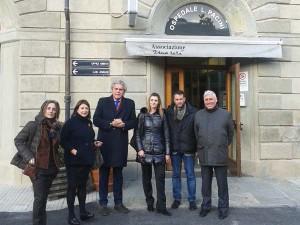 La politica all'ospedale Pacini: l'assessore Marroni
