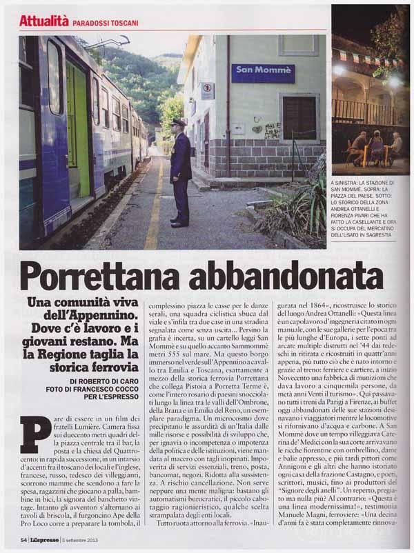 PORRETTANA, GAMBETTA VIANNA (PT/NCD) PRESENTA UN'INTERROGAZIONE