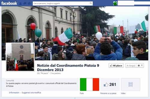 """IL """"COORDINAMENTO PISTOIA 9 DICEMBRE 2013"""" SI SCIOGLIE"""