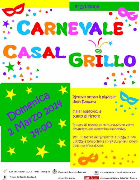 CASAL-GRILLO, CARNEVALE DOMENICA 2 MARZO