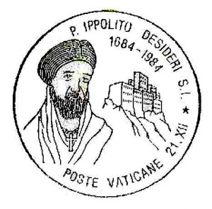Ippolito Desideri. Annullo postale vaticano