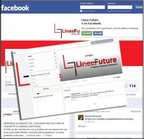 «LINEE FUTURE» SU FACEBOOK E TWITTER