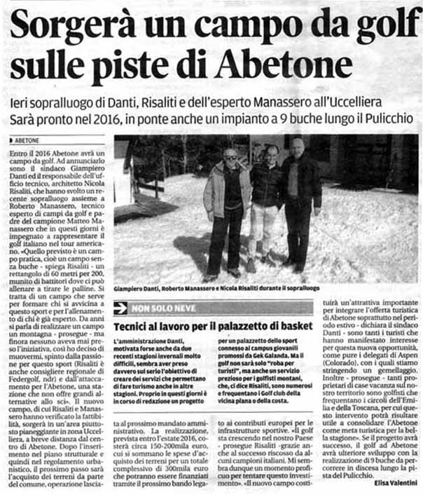 TUTTI AL GOLF ALL'ABETONE