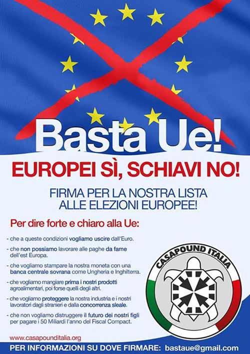 «EUROPEI SÌ, SCHIAVI NO!»
