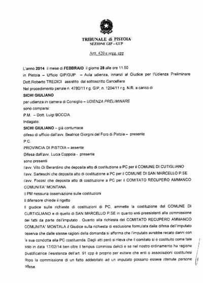 RUBERIE IN COMUNITÀ MONTANA: LE CONTRADDIZIONI DELL'ARTICOLO 91 DEL CODICE DI PROCEDURA PENALE