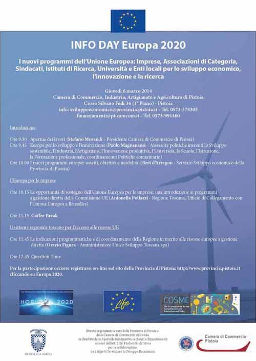 SVILUPPO ECONOMICO: INFO-DAY SULLA NUOVA PROGRAMMAZIONE DEI FONDI EUROPEI 2014 – 2020
