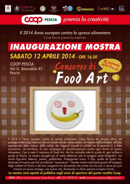 """FOOD ART"" IN MOSTRA ALLA COOP DI VIA AMENDOLA"