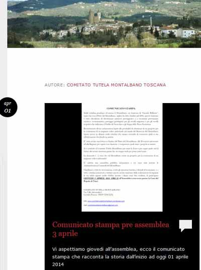 MONTALBANO E PARCO EOLICO: GIOVEDÌ 3 APRILE UN'ASSEMBLEA