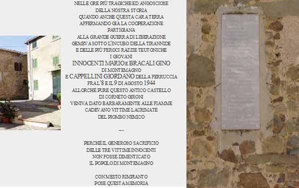 LA TRAGICA RAPPRESAGLIA DI CASTEL DE' GIRONI