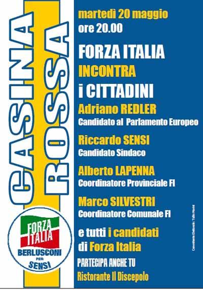 AGENDA DEL FARE: FORZA ITALIA INCONTRA