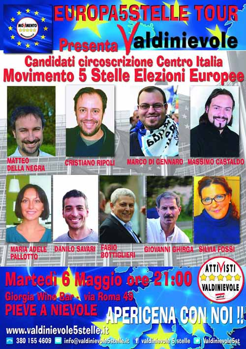 MOVIMENTO 5 STELLE, NOVE CANDIDATI ALLE EUROPEE IN TOUR