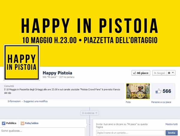 HAPPY FROM PISTOIA. BALLANDO IN CITTÀ SULLE NOTE DI PHARREL WILLIAMS