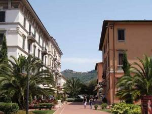 Il centro cittiadino di Montecatini