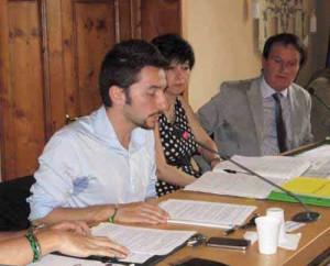 Il Sindaco Mangoni, la Segretaria D'Amico, il Presidente Nerozzi