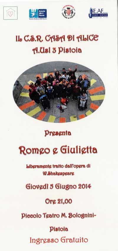 """ROMEO E GIULIETTA IN VERSIONE """"CASA DI ALICE"""""""