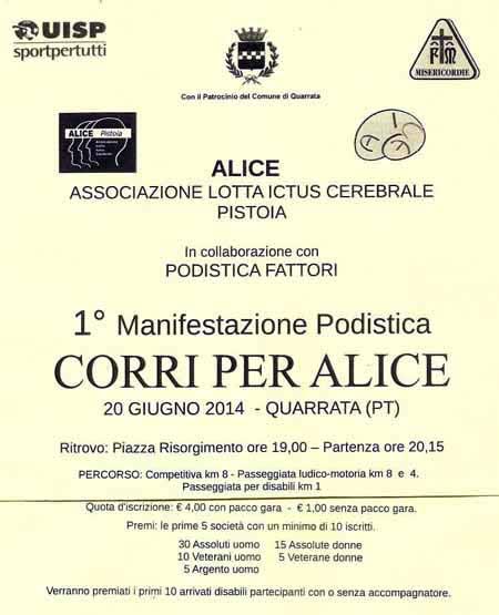 PER ALICE, PODISMO CONTRO L'ICTUS CEREBRALE