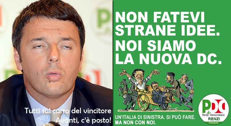 «AVANTI C'È POSTO!». RENZI IMBARCA I TRANSFUGHI DI SEL