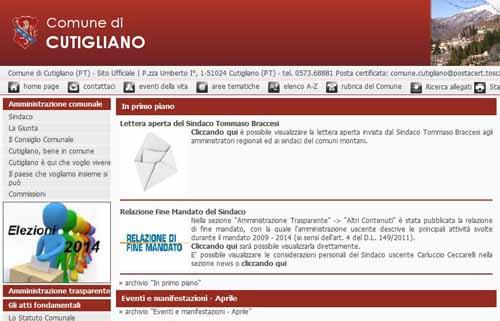 CUTIGLIANO. CONSIGLIO COMUNALE SESSIONE ORDINARIA