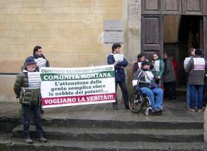 Il Comitato Recupero Ammanco dinanzi al Tribunale di Pistoia