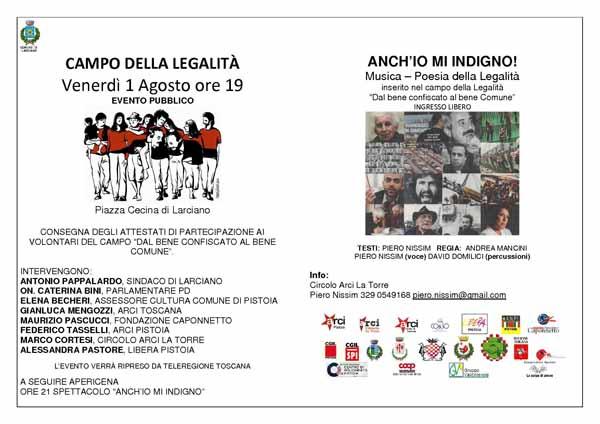 """CHIUDE IL CAMPO DELLA LEGALITÀ 2014 """"DAL BENE CONFISCATO AL BENE COMUNE"""""""