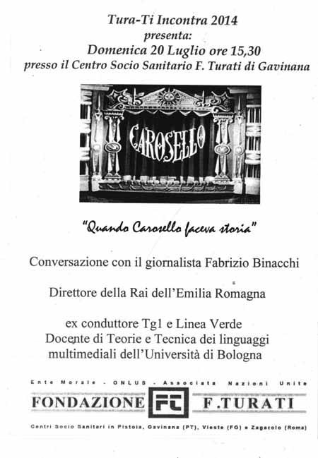 «CAROSELLO» ALLA FONDAZIONE TURATI DI GAVINANA