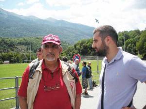 Il leader No Tav Alberto Perino e Lorenzo Cristofani