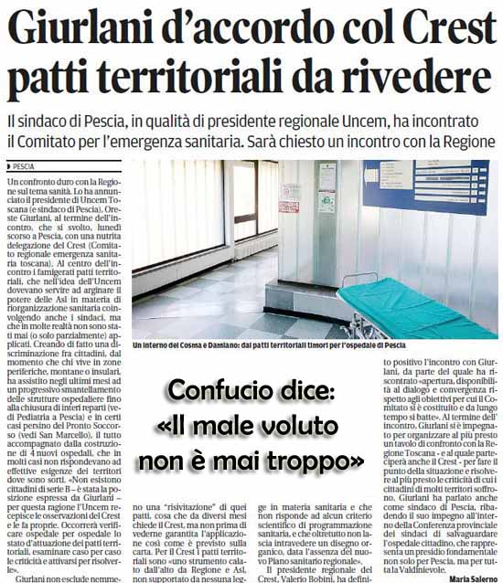 """QUELLA GRAN FUFFA DEI """"PATTI TERRITORIALI"""""""