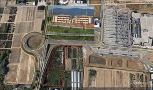 Veduta aerea dell'area Pallavicini