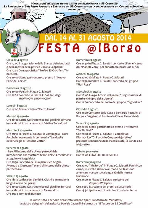 TORNA LA «FESTA @L BORGO»