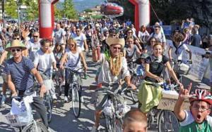 Un'immagine della biciclettata