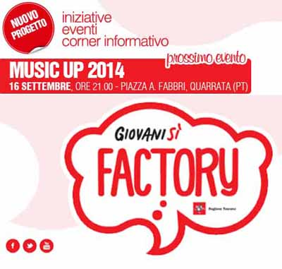 MUSIC UP 2014, SEI GRUPPI EMERGENTI IN GARA