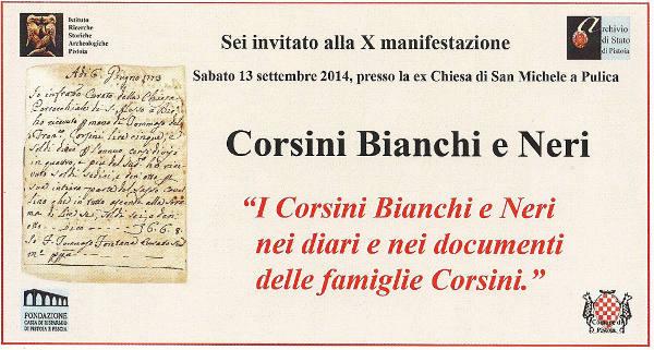 «CORSINI BIANCHI E NERI», IL 13 SETTEMBRE DECIMA MANIFESTAZIONE