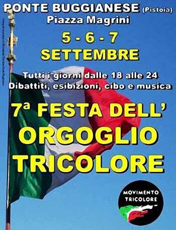 SETTIMA FESTA DELL'ORGOGLIO TRICOLORE A PONTE BUGGIANESE