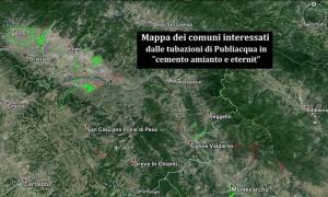 La mappa dell'amianto di Publiacqua