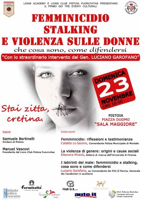 FEMMINICIDIO, STALKING E VIOLENZA SULLE DONNE