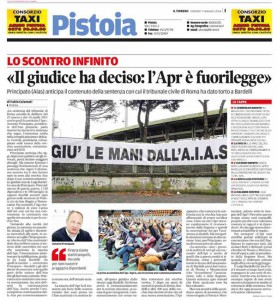 Il Tirreno, 09 maggio 2014
