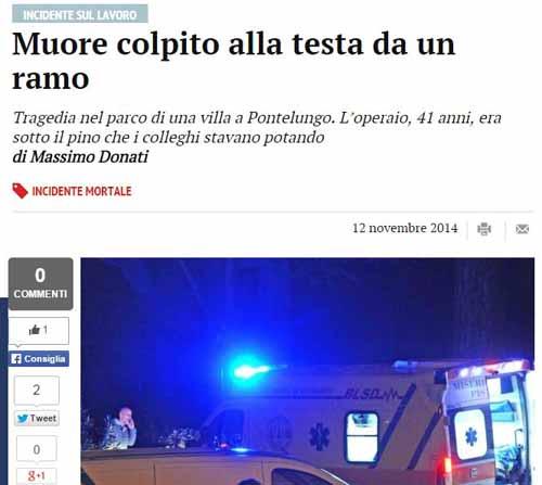 CORDOGLIO E RABBIA PER LA MORTE DI ALESSIO BIANCHI