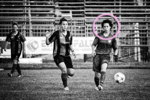 Priscilla Del Prete con la maglia del Firenze in Coppa Italia