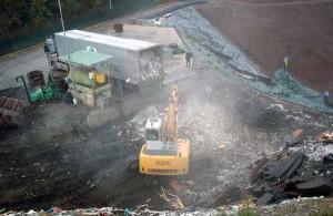 Piazzola di conferimento rifiuti in discarica