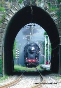 Treno in galleria sulla Porrettana