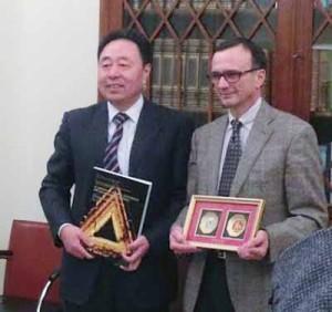 La Nanjing Forestry University. Il responsabile cinese e il prorettore
