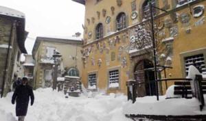 Nevicata a Palazzo Comunale