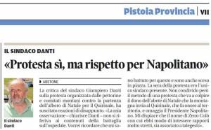 Danti e Napolitano. Il Tirreno, 7 dicembre 2014