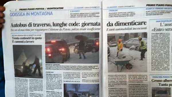 NEVE. SIMONE FERRARI SU FB A FEDERICA FRATONI