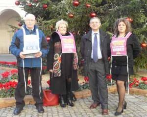 Emiliano Bracali, Graziella Cimeli, Flavio Ceccarelli e Laura Burattini al Quirinale per rappresentare la Montagna