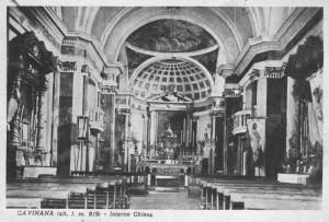 L'interno della chiesa di Gavinana