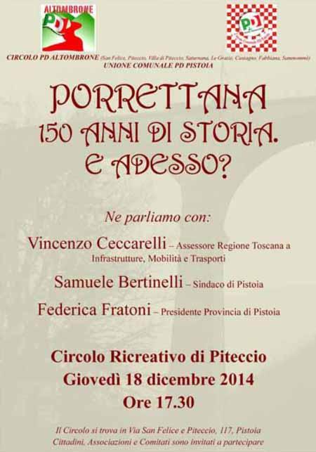 """""""PORRETTANA, 150 ANNI DI STORIA. E ADESSO?"""""""