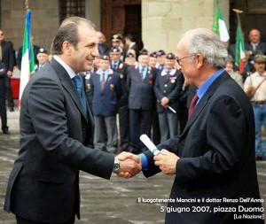 Il luogotenente Mancini e l'ex Procuratore Capo Dell'Anno