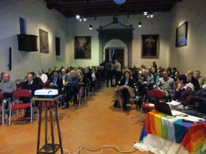 L'Aula Magna del Seminario durante la presentazione del dossier